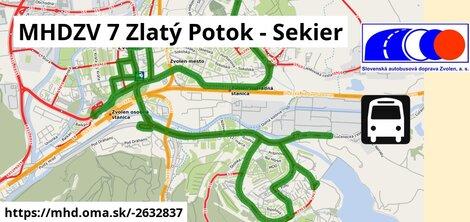 ilustračný obrázok trasy Linky číslo 7 v SR