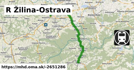 ilustračný obrázok k R Zvolen-Zilina-Ostrava