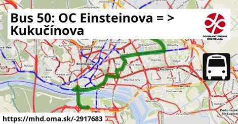 ilustračný obrázok k Bus 50: Aupark => OD Slimák