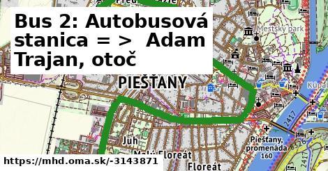 ilustračný obrázok k Bus 2: Autobusová stanica => Adam Trajan II.