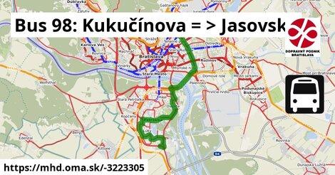 ilustračný obrázok k Bus 98: OD Slimák => Jasovská