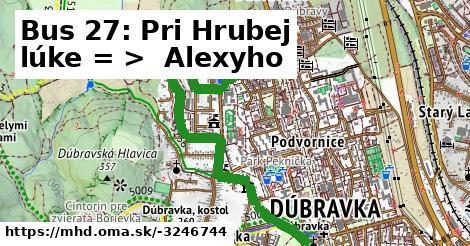 ilustračný obrázok k Bus 27: OC Dubrawa => Alexyho