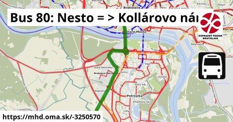 ilustračný obrázok k Bus 80: Kopčany => Kollárovo nám.