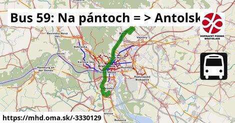 ilustračný obrázok k Bus 59: Na pantoch => Antolská