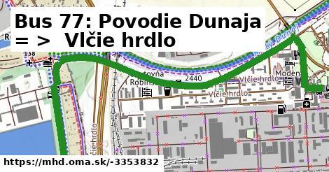 ilustračný obrázok k Bus 77: Povodie Dunaja => Vlčie hrdlo
