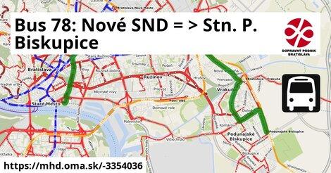 ilustračný obrázok k Bus 78: Nové SND => Čiližská