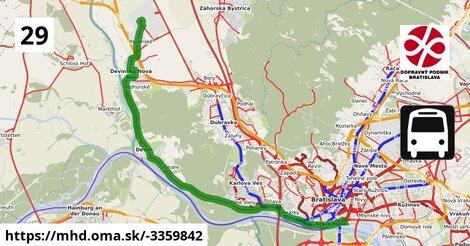 ilustračný obrázok k Bus 29: Opletalova, VW5 => Ivana Bukovčana => Nové SND