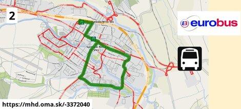 ilustračný obrázok k Linka č.2, Autobusová stanica> Sídlisko Východ >Sídlisko Tarča a späť