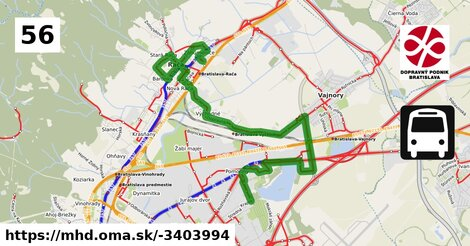 ilustračný obrázok k Bus 56: Studená => Tbiliská => Záhumenice-Drevona