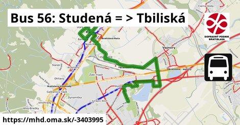 ilustračný obrázok k Bus 56: Studená => Tbiliská