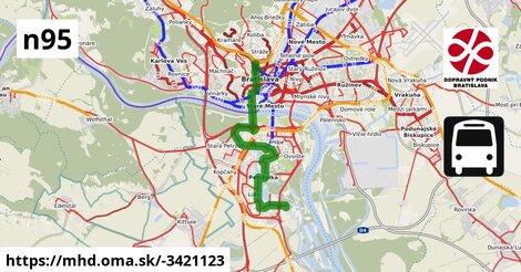 ilustračný obrázok k Bus N95: Vozovňa Petržalka => Hlavná stanica