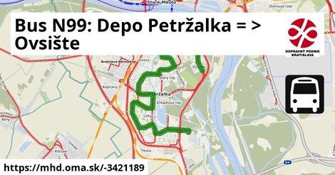 ilustračný obrázok k Bus N99: Vozovňa Petržalka => Ovsište