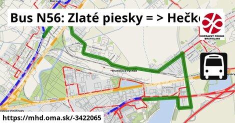 ilustračný obrázok k Bus N56: Zlaté piesky => Hečkova