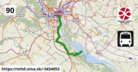 ilustračný obrázok k Bus 90: Nové SND => ŽST Rusovce => Danubiana