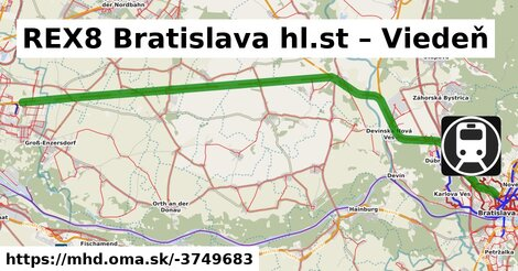 ilustračný obrázok k REX Bratislava hl.st. – Wien