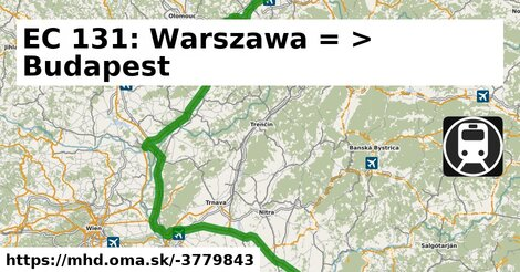 ilustračný obrázok k EuroCity Warszawa – Budapest
