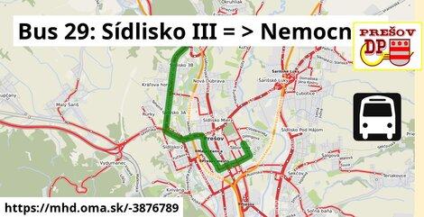 ilustračný obrázok trasy Linky číslo 29 v SR