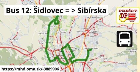 ilustračný obrázok k Bus 12: Dúbravská => Sibírska