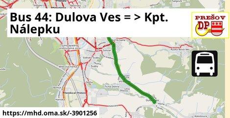 ilustračný obrázok k Bus 44: Solivar => Šidlovec