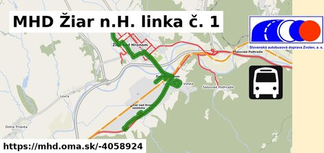 ilustračný obrázok k MHD Žiar n.H. linka č. 1