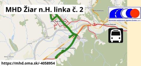 ilustračný obrázok k MHD Žiar n.H. linka č. 2
