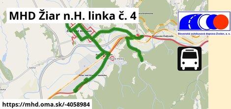 ilustračný obrázok k MHD Žiar n.H. linka č. 4