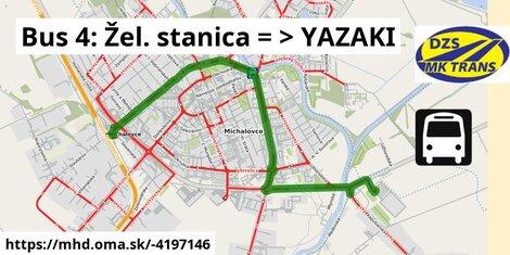 ilustračný obrázok k Bus 4: Žel. stanica => YAZAKI
