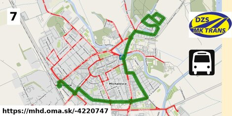 ilustračný obrázok k Bus 7: Stráňany Lipová => Žel. stanica