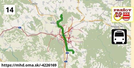 ilustračný obrázok k Bus 14: Záborské => Kanaš - Stráže