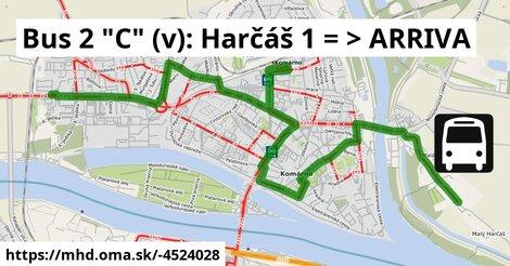 "ilustračný obrázok k Bus 2 ""A"" (v): Harčáš, osada => ARRIVA"