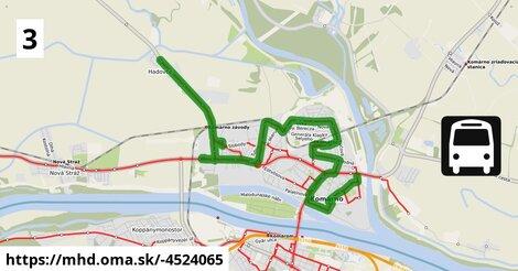 """ilustračný obrázok k Bus 3 """"B"""" (v): Sídlisko IV., Váh => Malá Jarkova => ARRIVA => Hadovce, žel.st."""