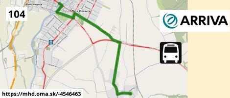 ilustračný obrázok k BUS 104: Prílepy => Autobusová stanica