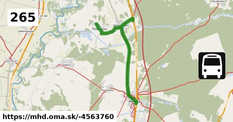 ilustračný obrázok k Bus 265: Malé Leváre => Malacky