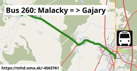 ilustračný obrázok k Bus 260: Malacky => Gajary