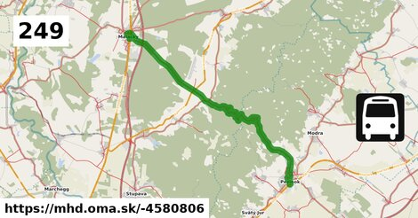 ilustračný obrázok k Bus 249: Malacky => Pezinok