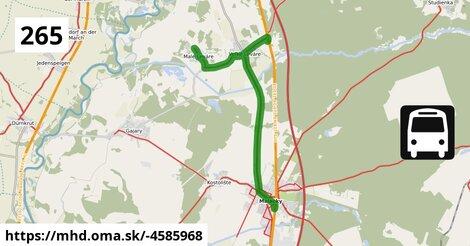 ilustračný obrázok k Bus 265: Malacky => Malé Leváre