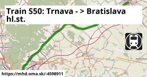 ilustračný obrázok k S50 Trnava - Bratislava