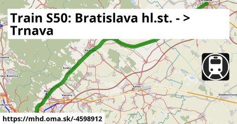 ilustračný obrázok k S50 Bratislava - Trnava