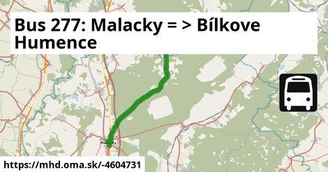ilustračný obrázok k Bus 277: Malacky => Bílkove Humence