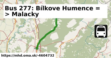 ilustračný obrázok k Bus 277: Bílkove Humence => Malacky