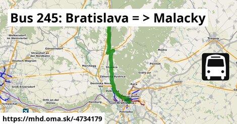 ilustračný obrázok k Bus 245: Bratislava => Malacky