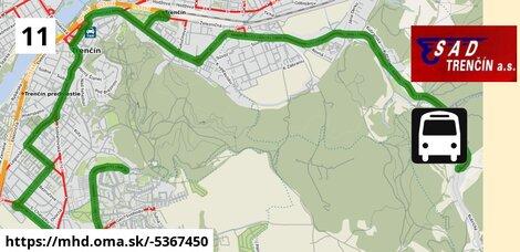ilustračný obrázok k Bus 11: Saratovská, ZŠ => Kubrica, nám