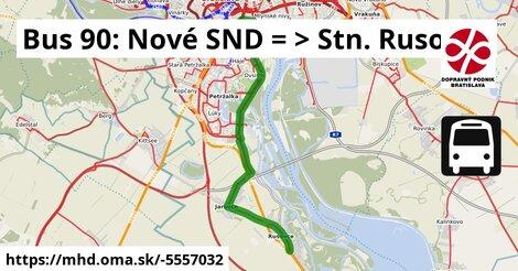 ilustračný obrázok k Bus 90: Nové SND => ŽST Rusovce