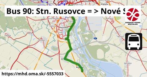 ilustračný obrázok k Bus 90: ŽST Rusovce => Nové SND