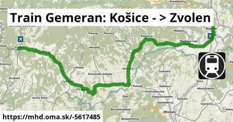 ilustračný obrázok k ZSSK: Bratislava-Zvolen-Kosice