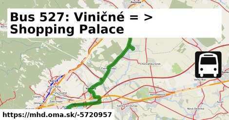 ilustračný obrázok k Bus 527: Pezinok => Bratislava