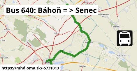 ilustračný obrázok k Bus 640: Báhoň => Senec
