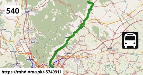 ilustračný obrázok k Bus 540: Bratislava => Modra,Harmónia