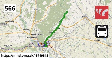 ilustračný obrázok k Bus 566: Bratislava => Doľany (=> Trnava)