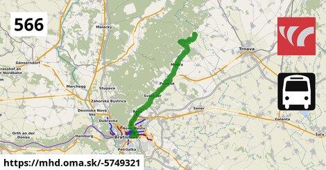 ilustračný obrázok k Bus 566: (Trnava =>) Doľany => Bratislava